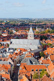 Top view to Bruges Royalty Free Stock Photos