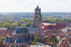 Top view to Bruges Stock Image