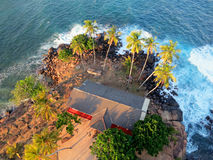Top view to ocean from lighthouse in Sri-Lanka Stock Image