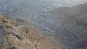 Top view to roman fortress from masada royalty free stock photo