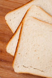 Top view of toast bread on the board Royalty Free Stock Images