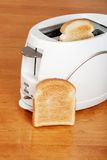 Top view toaster with toast Royalty Free Stock Image