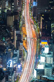 Top view Tokyo city road night view Stock Image