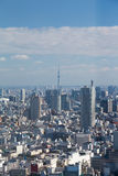 Top view Tokyo residence downtown Royalty Free Stock Image