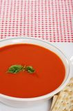 Top view tomato soup Stock Photography