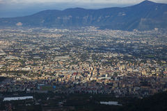 Top view of a town near vesuvius volcano south italy Stock Photo