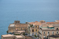 Top view of the town of Pizzo Calabro , Calabria Stock Images