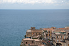 Top view of the town of Pizzo Calabro , Calabria Royalty Free Stock Photography