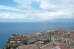 Top view of the town of Pizzo Calabro , Calabria Stock Photo