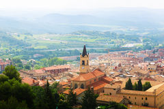 Top view of town in Pyrenees. Berga Stock Photos