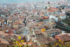 Top view of town in Pyrenees. Berga,  Catalonia Stock Photos