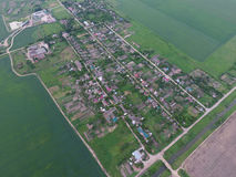 Top view of the town village Elitnyy Stock Images