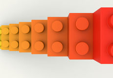 Top view of toy block stairs Stock Image