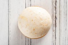 Top view traditional Chinese bun on white wood royalty free stock photos