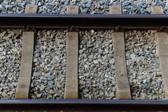 Top view on Train Tracks royalty free stock photo