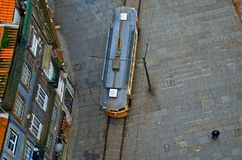 Top view of the tram. Royalty Free Stock Images