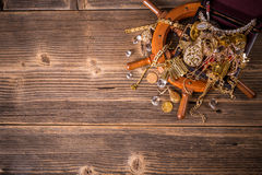 Top view of treasure chest Royalty Free Stock Photography