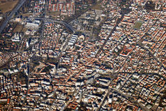 Top view of the Trevizo City, Italy Royalty Free Stock Photos