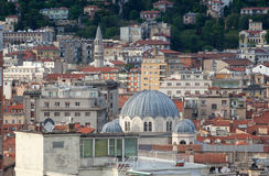 Top view of Trieste, Italy Royalty Free Stock Photo