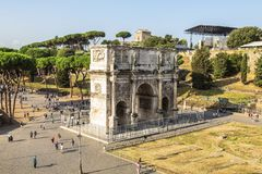 Top view on triumphal arch of Constantine, Rome. Italy Stock Photography