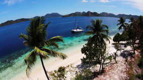 Top view tropical island Royalty Free Stock Photography