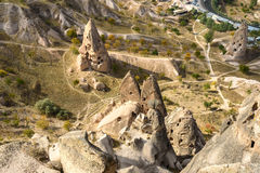 Top view from Uchisar castle. Cappadocia. Turkey Royalty Free Stock Photography