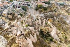 Top view from Uchisar castle. Cappadocia. Turkey Royalty Free Stock Photos