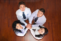 Top view of united business people Stock Images
