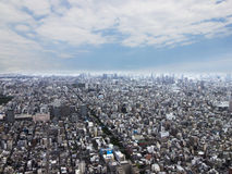 Top view of urban building in tokyo city. On cloudy sky background Royalty Free Stock Photos