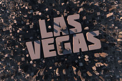 Top view of urban city in 3D. With skycrapers, buildings and name Las Vegas Stock Images