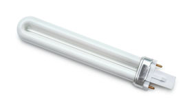 Top view of UV light bulb Stock Photography