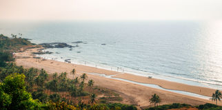 Top view of Vagator Beach from Chapora fort, Goa, India Royalty Free Stock Photography