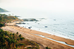 Top view of Vagator Beach from Chapora fort, Goa, India Stock Photo