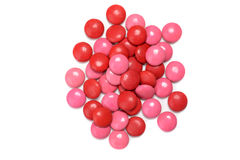 Top view valentines candy coated chocolate Royalty Free Stock Photos