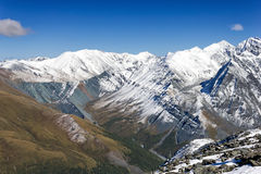 Top view of the valley Yarlu, Altai, Russia Royalty Free Stock Photos