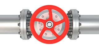 Top view valve Royalty Free Stock Photos