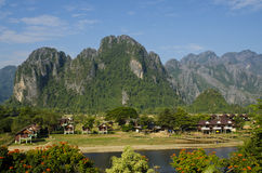 Top view of Vangvieng Stock Image