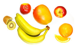 Top view of various fruits Royalty Free Stock Photography