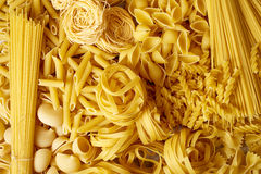 Top view of various pasta types Royalty Free Stock Photo
