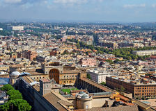 Top view of the Vatican Gardens, Rome Stock Photo