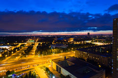 The top view on VDNH All-Russia Exhibition Centre Royalty Free Stock Photo