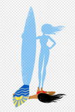 Top view vector illustration of surfer girl Royalty Free Stock Image