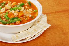 Top view vegetable soup Royalty Free Stock Photo