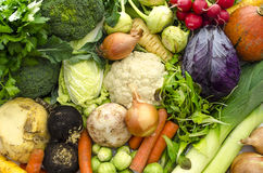 Top view of vegetables Royalty Free Stock Photo