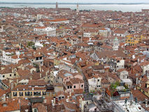 Top view of Venice roof. Stock Photo