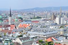Top-view of Vienna Royalty Free Stock Photography