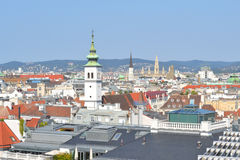 Top-view of Vienna Stock Photo