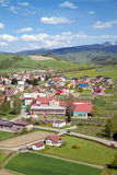 A top view of village from viewing point in Orava Castle Stock Photo