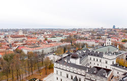 Top view  of Vilnius Royalty Free Stock Images