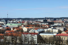 Top view of Vilnius, Lithuania. View of Vilnius from the hill of Gediminas Royalty Free Stock Photography